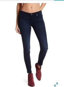 7 For All Mankind Gwenevere Black Skinny Jeans 28